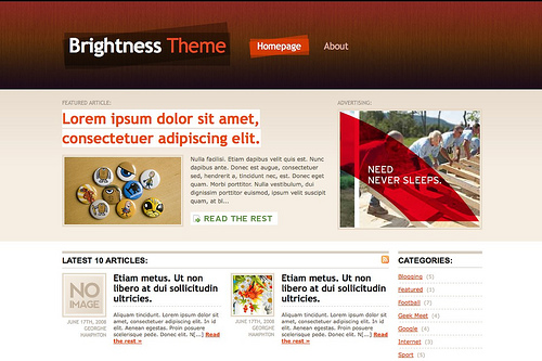 The Brightness WordPress theme