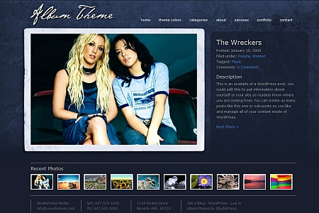 WordPress theme for Album and picturesblogs