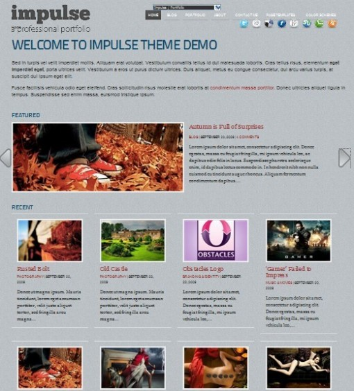 Impulse : Premium Photo Gallery WordPress Theme