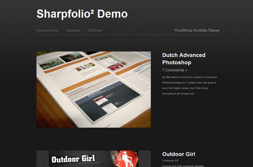 Sharpfolio wordpress theme