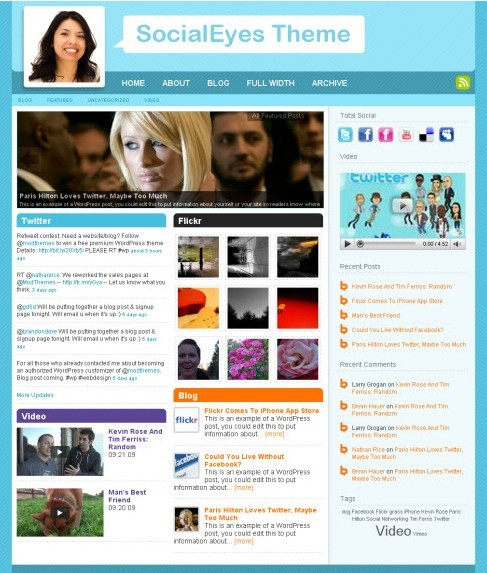 SocialEyes Premium Media wp themes