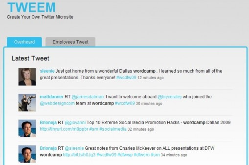 TWEEM- Premium Twitter microsite theme For WordPress