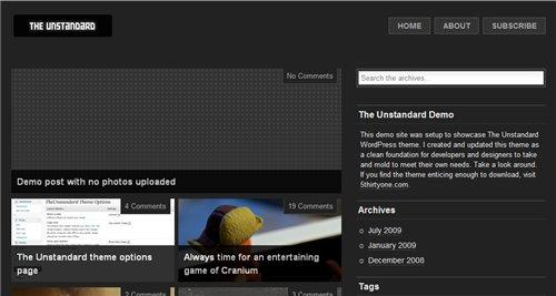 Unstandard WordPress theme