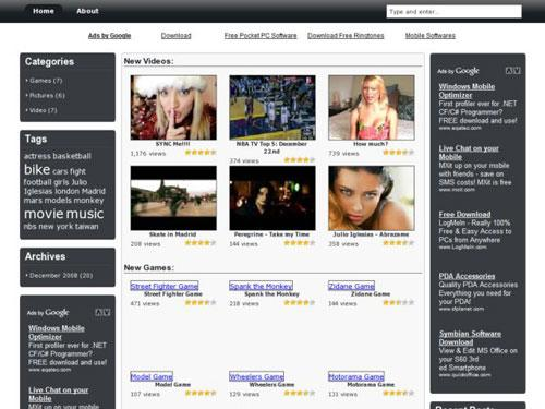 widget ready, adsense ready, Video, Game and Photo Blog theme.