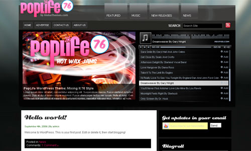 PopLife 76 Premium Multimedia WordPress Theme : Aloha Themes