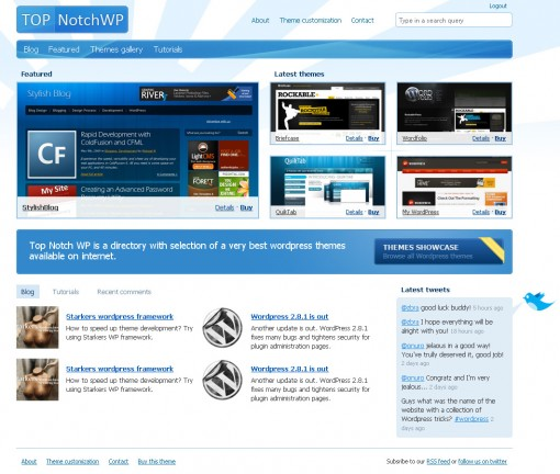Top Notch Showcase WordPress Theme