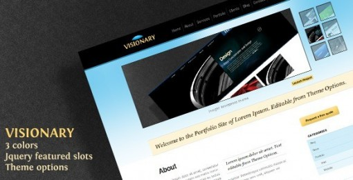 Visionary Business Portfolio WordPress theme