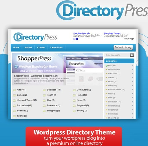 DirectoryPress WordPress Directory Theme