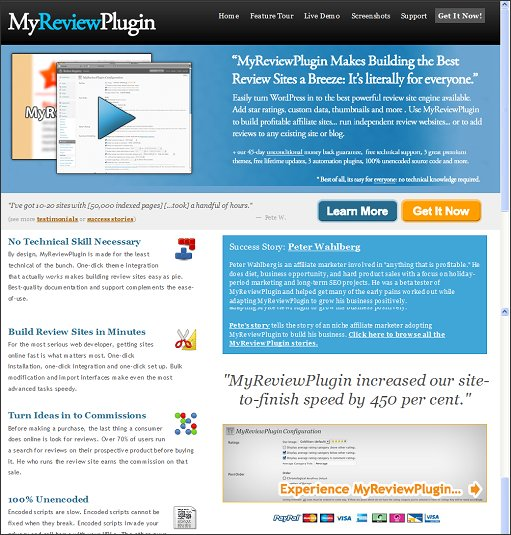 MyReviewPlugin - HomePage