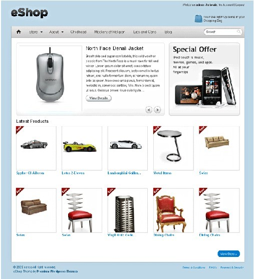 Templatic eShop eCommerce WordPress Theme