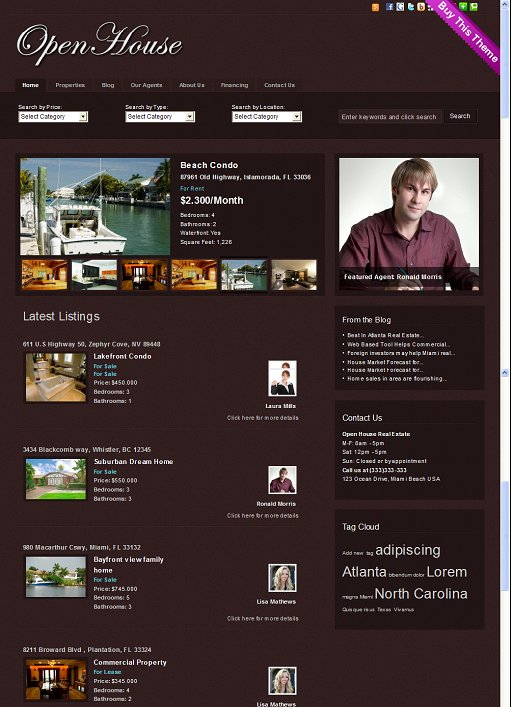 Gorilla Themes Open House Real Estate WordPress Theme