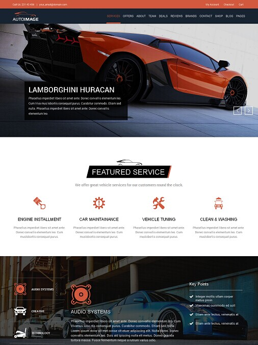 Auto Image - WordPress Car Dealer theme
