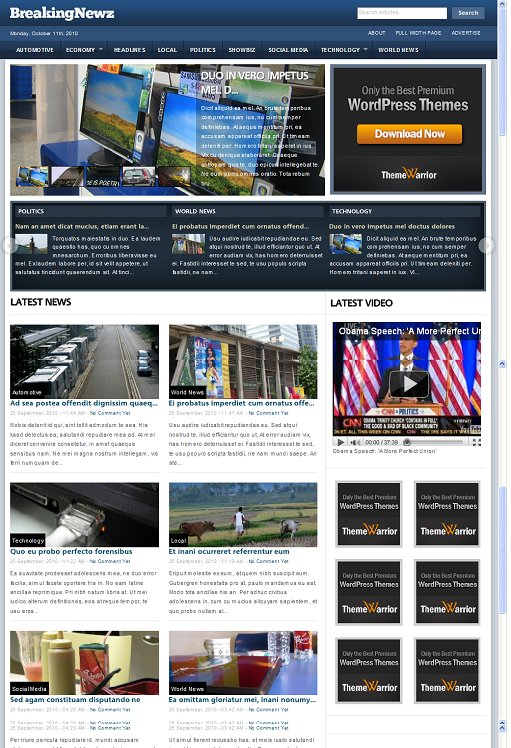 BreakingNewz Free Premium WordPress Theme