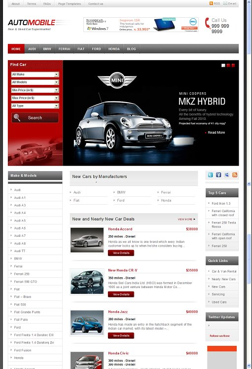Templatic Automobile WordPress Automobile theme