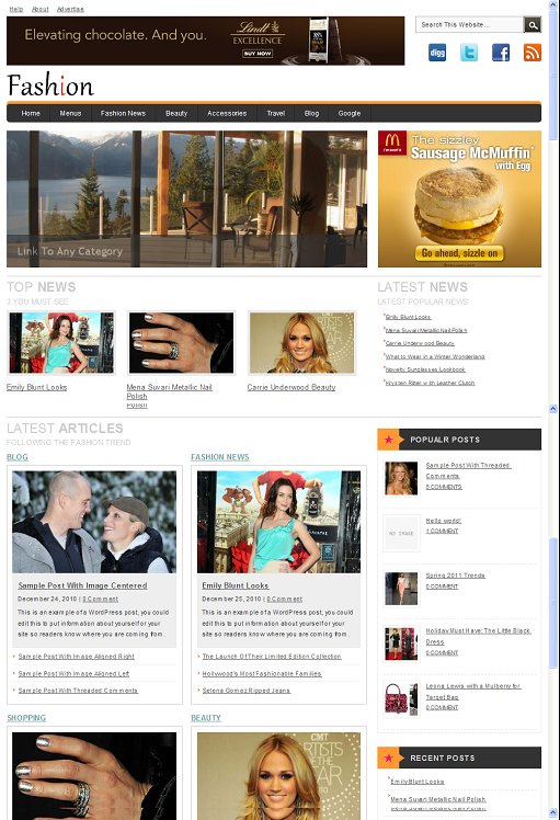 Clover Themes Fashion WordPress Magazine Theme