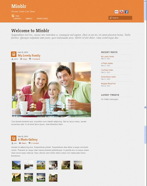 Themify Minblr WordPress Tumblr-like Theme