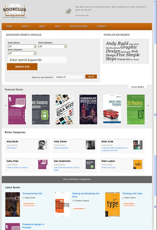 WooThemes Book Club Child Theme