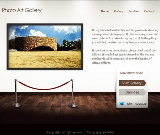ThemeFuse Art Gallery WordPress Theme