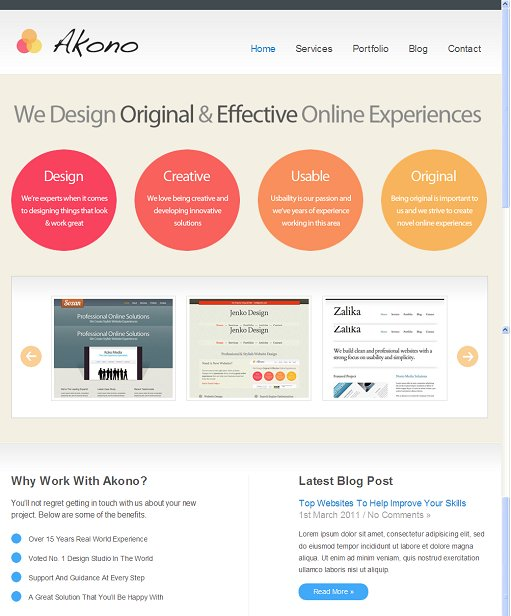 Voosh Themes Akono WordPress Theme