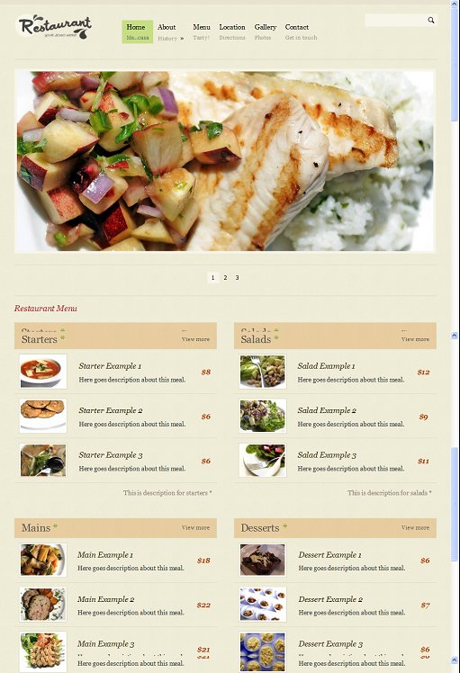 BizzThemes Restaurant Pro WordPress Theme