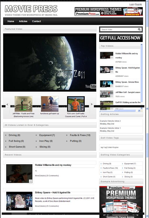 MoviePress WordPress Video Theme