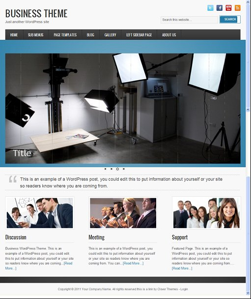 Clover Themes Business CMS WordPress Theme