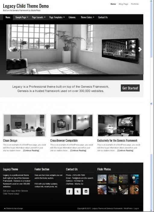 StudioPress Legacy Child WordPress Theme