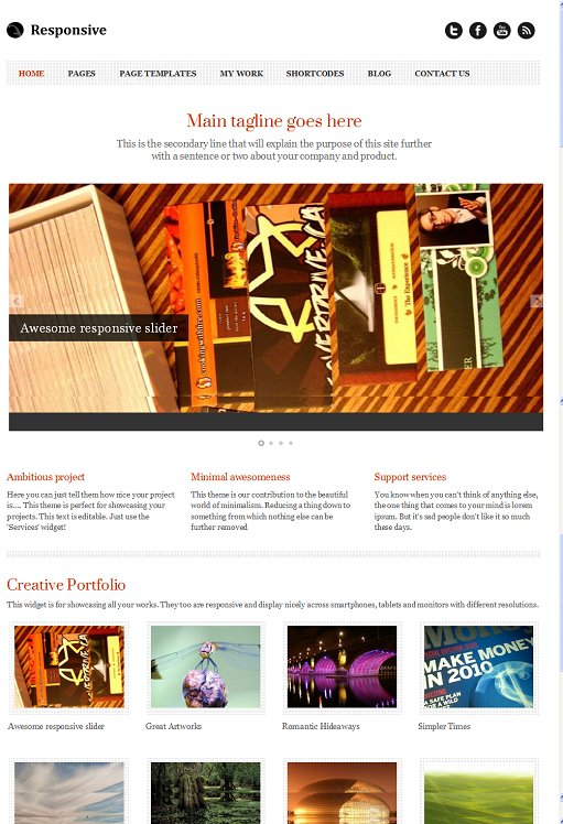 Templatic Responsive WordPress Portfolio Theme
