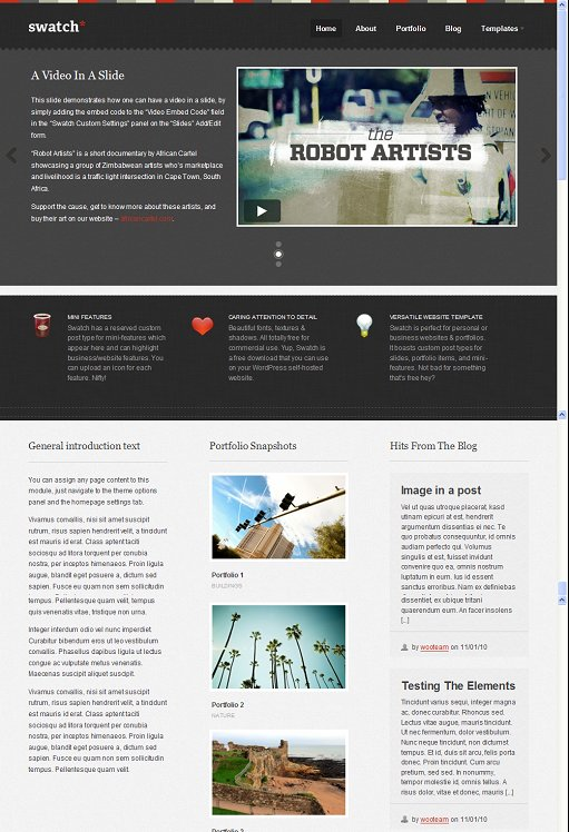WooThemes Swatch WordPress Theme