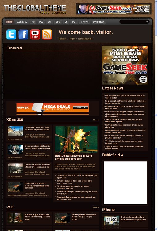PressJunkie The Global Gamer WordPress Theme