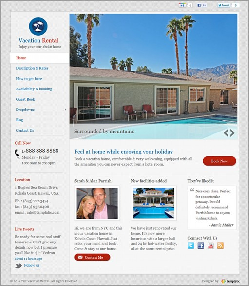 Templatic Vacation Rental WordPress Theme