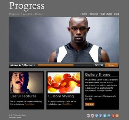 Organized Themes Progress WordPress Theme | Premium Themes Directory