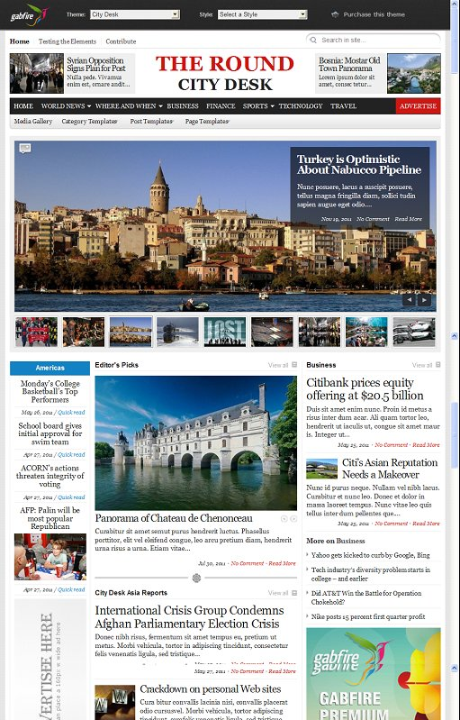Gabfire Themes City Desk WordPress Newspaper Theme