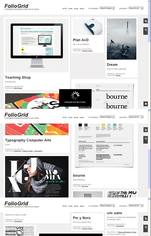 FrogsThemes FolioGrid Pro WordPress theme
