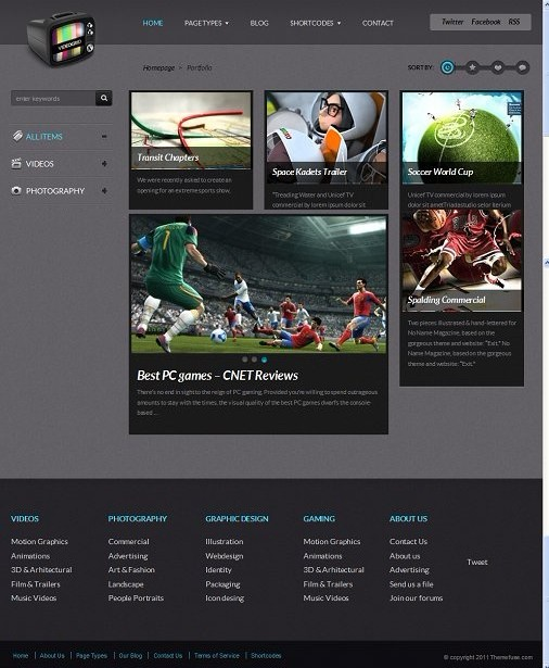 ThemeFuse VideoGrid WordPress theme