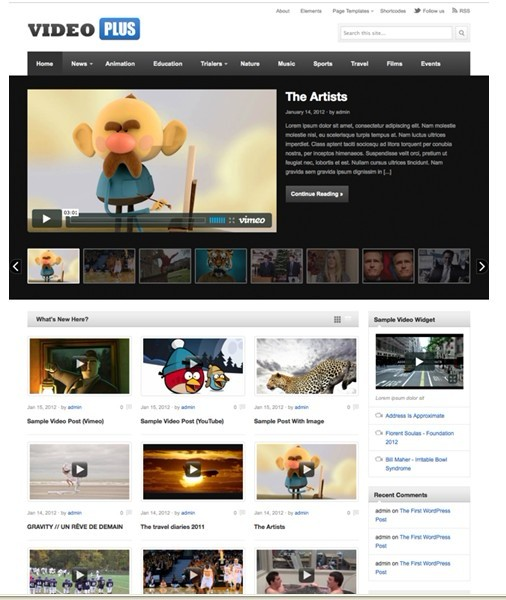 Theme Junkie VideoPlus WordPress Theme