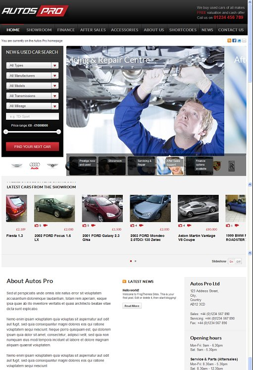FrogsThemes Autos Pro WordPress Automotive Theme