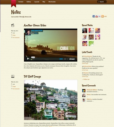 Themify Notes WordPress Responsive Tumblr Theme