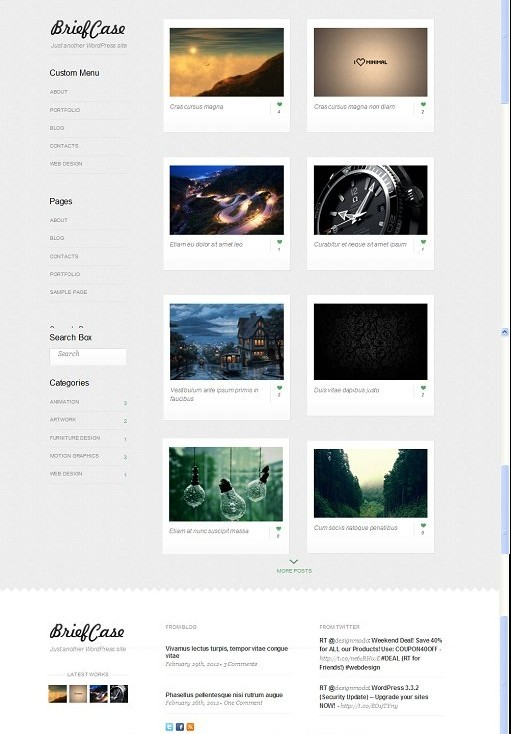 Rockable Themes Briefcase WordPress Theme