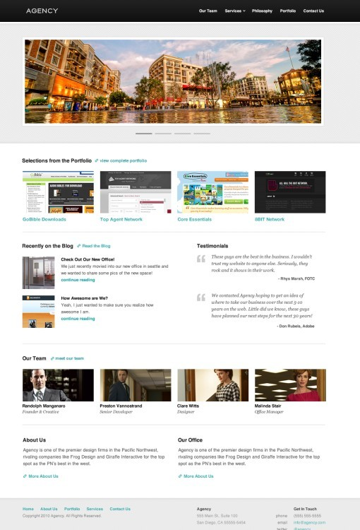 UPThemes Agency WordPress Theme