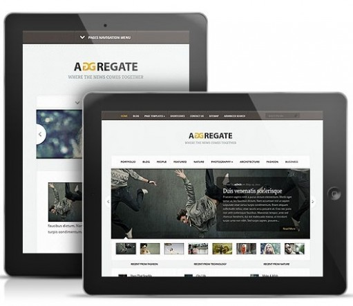 Aggregate Responsive Magazine WordPress Theme 
