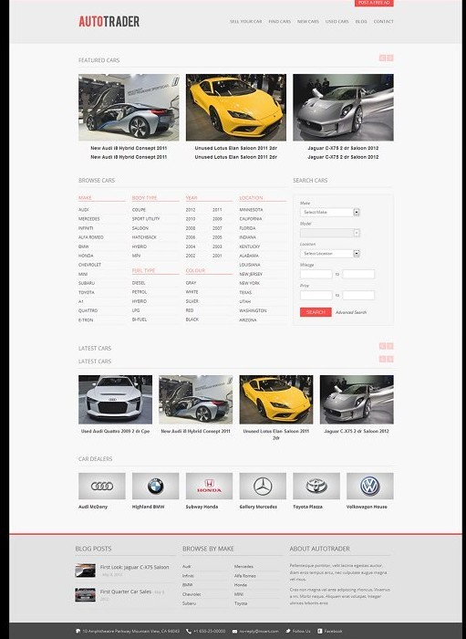 Autotrader WordPress Car Classified Theme