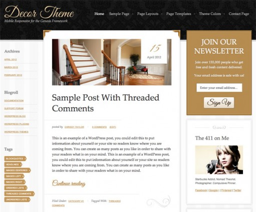 StudioPress Decor 1.0 WordPress Child Theme