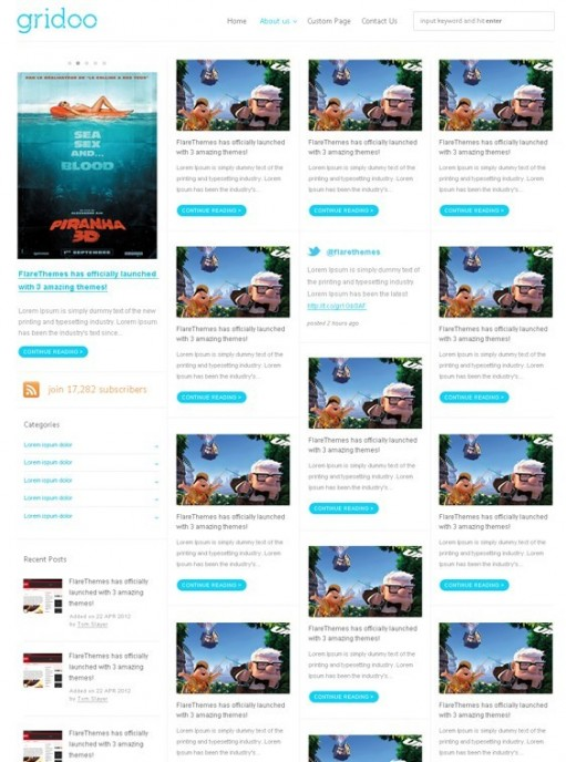 FlareThemes Gridoo WordPress Theme