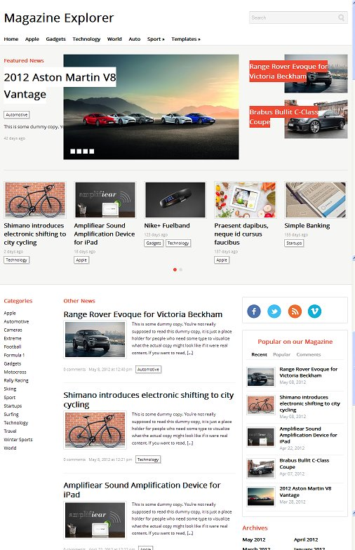 WPZOOM Magazine Explorer WordPress Theme