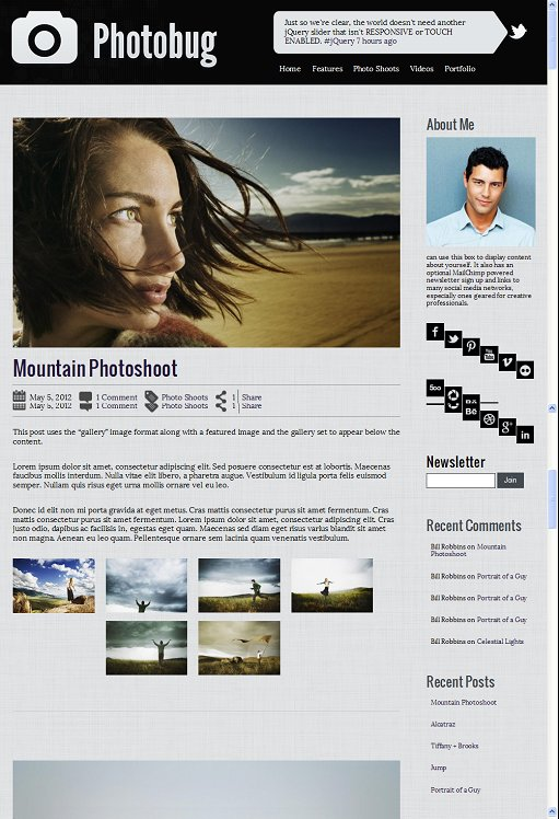 Organized Themes Photobug WordPress Theme
