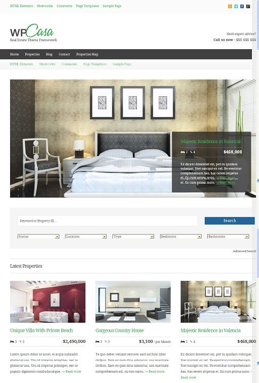 wpCasa Real Estate WordPress Theme Framework