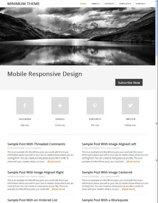 Minimum 2.0 Responsive WordPress Genesis Child Theme