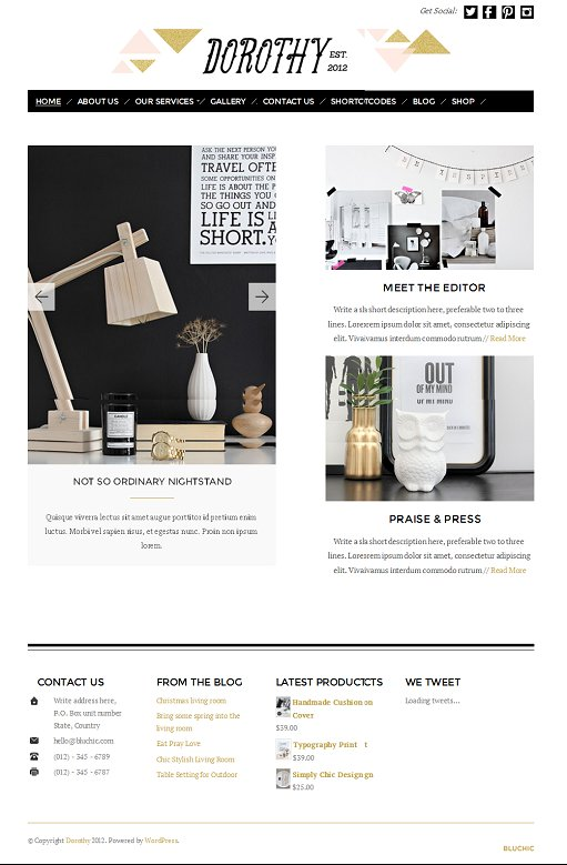 BluChic Dorothy WordPress Theme