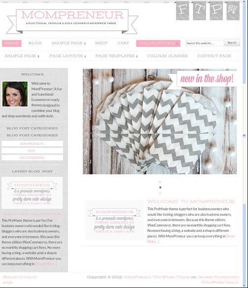 StudioPress MomPreneur 1.0 Child WordPress Theme